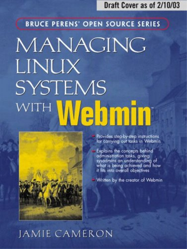 Large book cover: Managing Linux Systems with Webmin