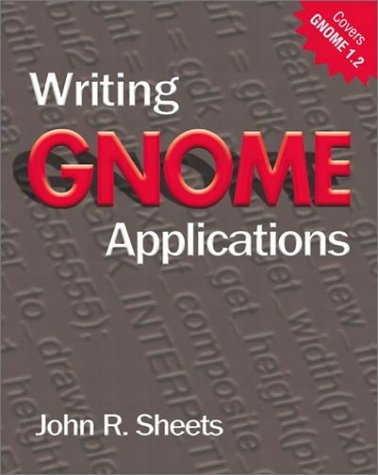 Large book cover: Writing GNOME Applications