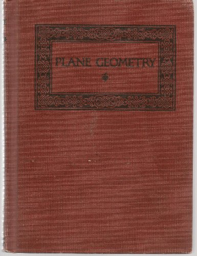 Large book cover: Plane Geometry