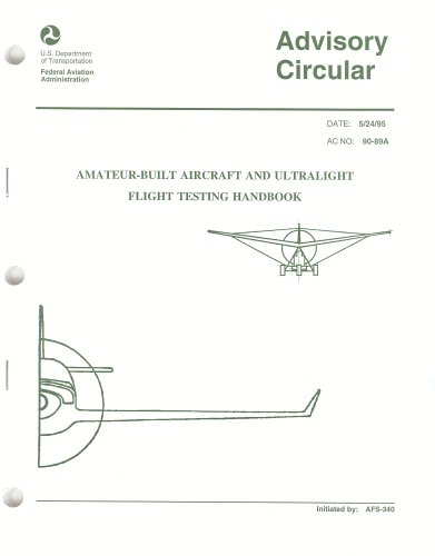 Large book cover: Amateur-Built Aircraft and Ultralight Flight Testing Handbook