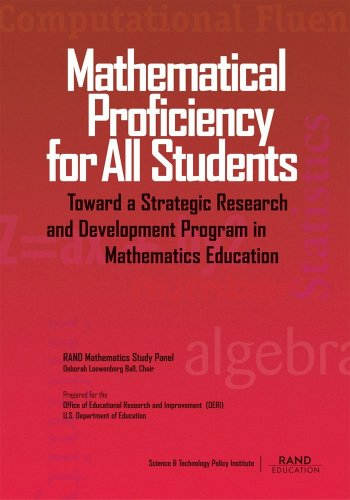 Large book cover: Mathematical Proficiency for All Students