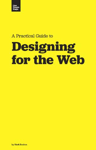 Large book cover: Designing for the Web