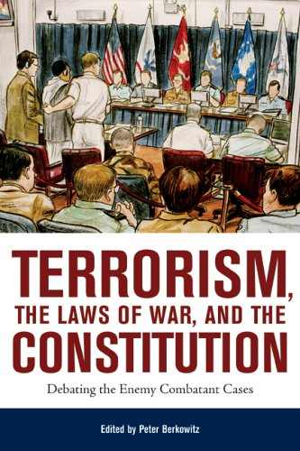 Large book cover: Terrorism, the Laws of War, and the Constitution