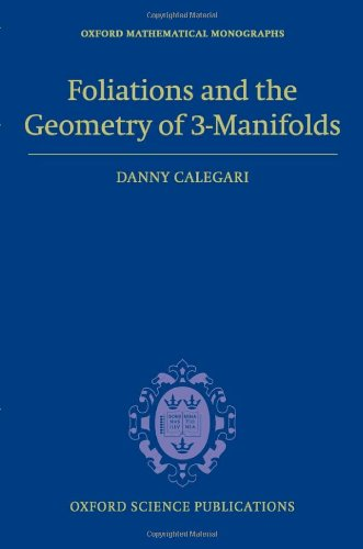 Large book cover: Foliations and the Geometry of 3-manifolds