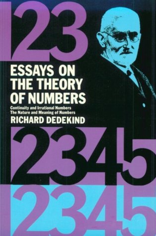 Large book cover: Essays on the Theory of Numbers