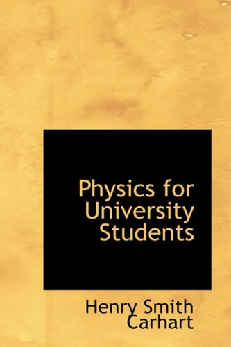 Large book cover: Physics for University Students