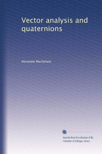 Large book cover: Vector Analysis and Quaternions