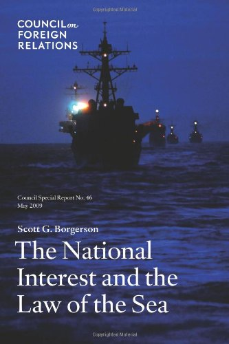 Large book cover: The National Interest and the Law of the Sea