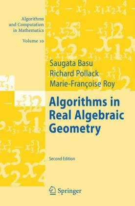 Large book cover: Algorithms in Real Algebraic Geometry