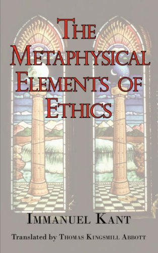Large book cover: The Metaphysical Elements of Ethics
