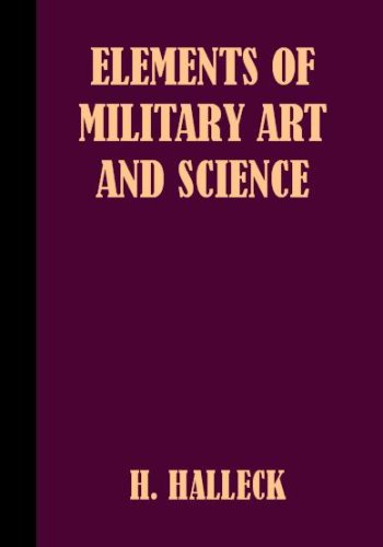 Large book cover: Elements of Military Art and Science