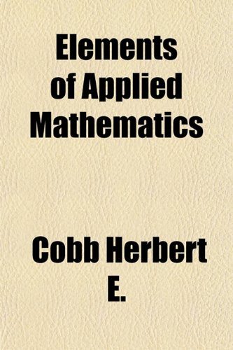 Large book cover: Elements of Applied Mathematics