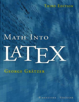 Large book cover: Math Into LaTeX