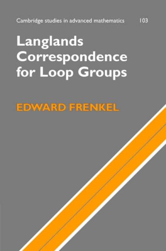 Large book cover: Langlands Correspondence for Loop Groups