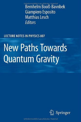 Large book cover: New Paths Towards Quantum Gravity