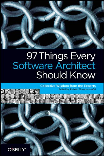 Large book cover: 97 Things Every Software Architect Should Know