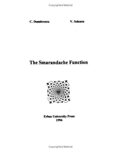 Large book cover: The Smarandache Function