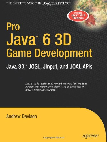 Large book cover: Pro Java 6 3D Game Development