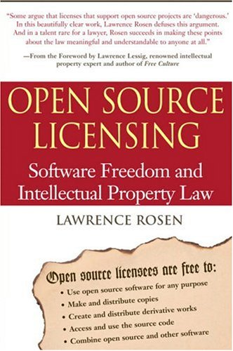 Large book cover: Open Source Licensing: Software Freedom and Intellectual Property Law