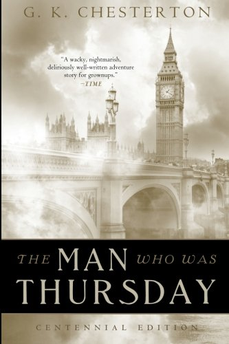 Large book cover: The Man Who Was Thursday, a nightmare