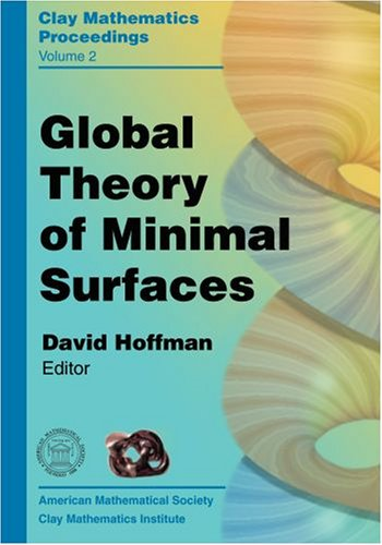 Large book cover: Global Theory Of Minimal Surfaces