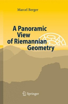 Large book cover: A Panoramic View of Riemannian Geometry