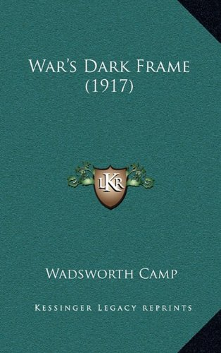 Large book cover: War's Dark Frame