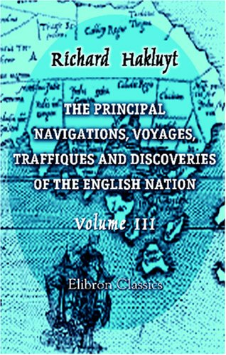 Large book cover: Principal Navigations, Voyages, Traffiques and Discoveries of the English Nation