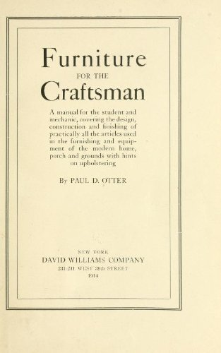 Large book cover: Furniture for the Craftsman