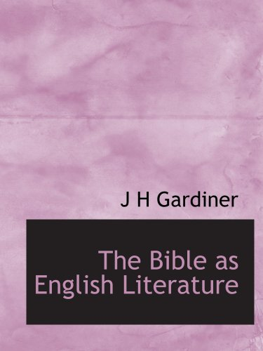 Large book cover: The Bible as English Literature
