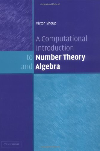 Large book cover: A Computational Introduction to Number Theory and Algebra
