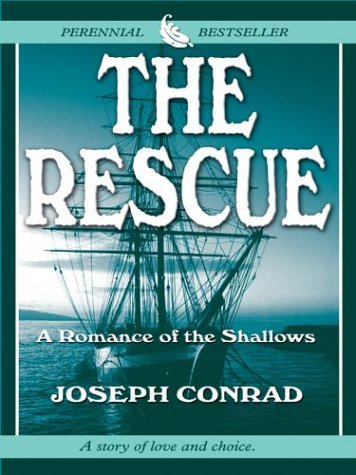 Large book cover: The Rescue: A Romance of the Shallows