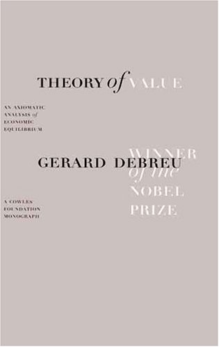 Large book cover: Theory of Value: An Axiomatic Analysis of Economic Equilibrium