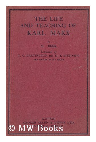 Large book cover: The Life and Teaching of Karl Marx