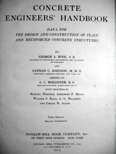 Large book cover: Concrete Engineers' Handbook