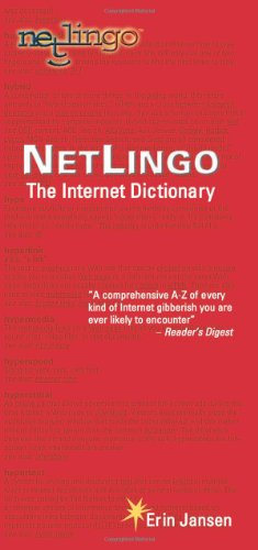 Large book cover: NetLingo: The Internet Dictionary