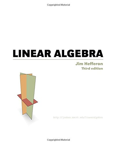 Large book cover: Linear Algebra