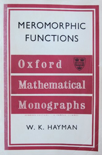 Large book cover: Lectures on Meromorphic Functions
