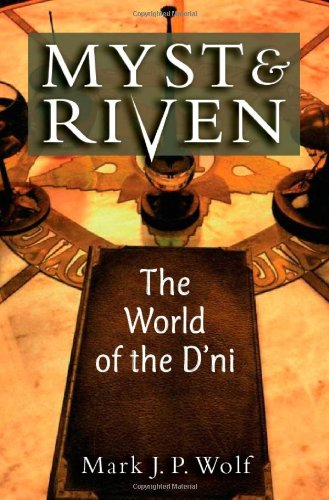 Large book cover: Myst and Riven: The World of the D'ni