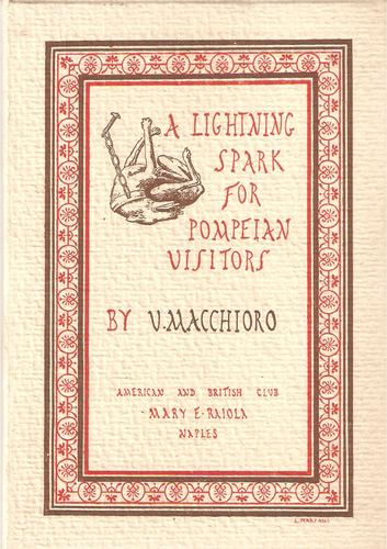 Large book cover: A Lightning Spark for Pompeian Visitors