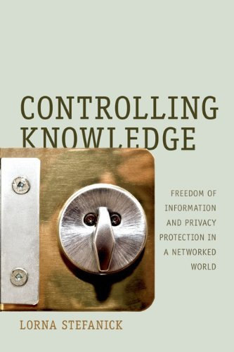Large book cover: Controlling Knowledge: Freedom of Information and Privacy Protection in a Networked World