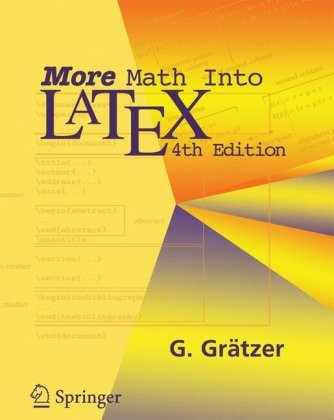 Large book cover: More Math Into LaTeX