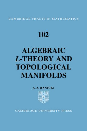 Large book cover: Algebraic L-theory and Topological Manifolds