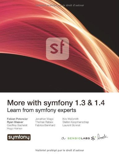 Large book cover: More with symfony