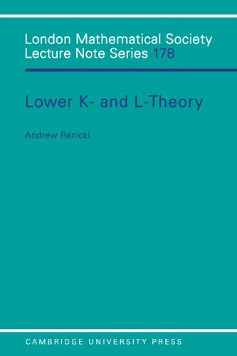 Large book cover: Lower K- and L-theory