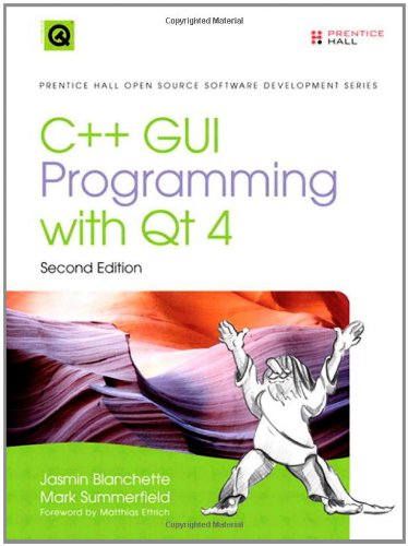 Large book cover: C++ GUI Programming with Qt 4