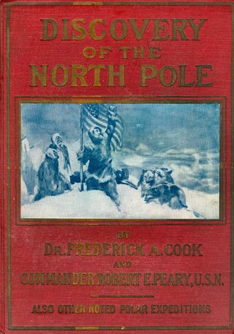 Large book cover: Discovery of the North Pole