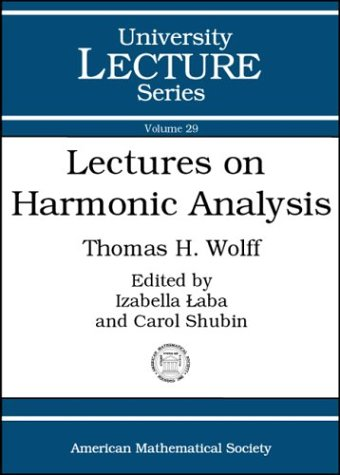 Large book cover: Lectures on Harmonic Analysis