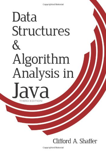 Large book cover: Data Structures and Algorithm Analysis in Java