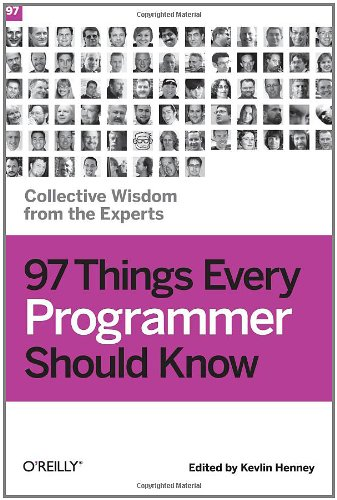 Large book cover: 97 Things Every Programmer Should Know